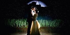 This couple made the rain look like magical, twinkling, stars. Take that, rain.