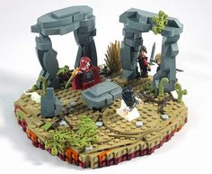 Awesome, ancient stone circle with bound damsel and ritualistic Dark Elf Lego Army, Lego Military, Lego Knights, Amazing Lego Creations, Lego Mecha, Lego Castle, Aquarium Decorations, Lego Worlds, Lego Dc
