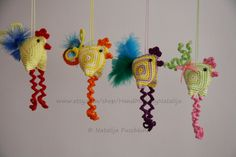 Easter Decoration - chicken, crochet pattern. €3.20, via Etsy.
