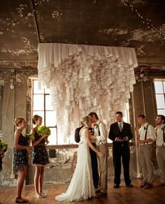 Ceremony Decor | Wedding and Party Ideas | Keep it intimate with this romantic decor.