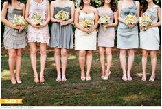 super cute different take on bridesmaids     Millie Holloman Photography