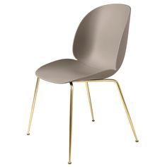 Buy the Beetle Dining Chair Un-Upholstered With Brass Legs by GamFratesi and more online today at The Conran Shop, the home of classic and contemporary design Beetle Chair, Stool Chair, Bench Furniture, Beetles, Messing, Decoration, Contemporary Design, Designer, Dekoration