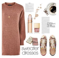 """""""Comfy"""" by rafaela-style ❤ liked on Polyvore featuring Topshop, Gucci, Botkier and sweaterdresses"""