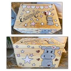 Memories Box, Baby Box, Wood Toys, Keepsake Boxes, Decoration, Nursery Decor, Advent Calendar, Decorative Boxes, Wood Burning