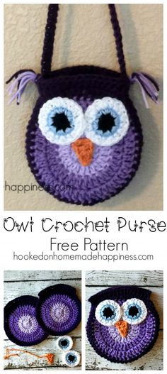 Owl Crochet Purse   Hooked on Homemade Happiness