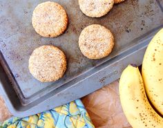 I saw some two ingredient cookies on Instagram, then on Tumblr. I didn't see THESE two ingredient cookies, let's be clear, I saw banana + oatmeal cookies. That version, which inspired my banana coconut cookies, is pretty common in vegan circles but I thought when I saw them that coconut would work just as well....