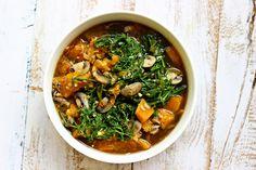 Pumpkin and Mushroom Curry Soup