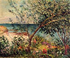 Maxime Maufra (French, 1861-1918)Monsieur Maufra's Garden by the Sea
