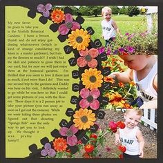 flowers scrapbook page