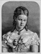 GRAND DUCHESS MARIE OF RUSSIA PORTRAIT, DUKE OF EDINBURGH BRIDE, 1874 GENEALOGY