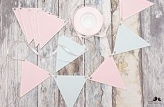 DIY hand-painted wooden garland