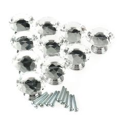 9.36$  Watch here - http://ali2jm.shopchina.info/go.php?t=32717908430 - DHDL-10Pcs 40mm Crystal Glass Diamond Shape Cabinet Knob Drawer 9.36$ #buymethat