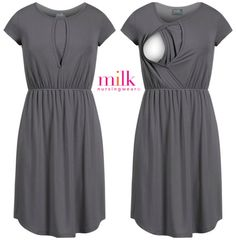 Looking for stylish, breastfeeding-friendly dresses? Look no further! Shop this petal nursing dress and more women's nursing dresses at Milk Nursingwear today. Maternity Nursing Dress, Nursing Wear, Cute Maternity Outfits, Stylish Maternity, Maternity Wear, Maternity Dresses, Maternity Fashion, Diy Nursing Clothes, Nursing Pajamas