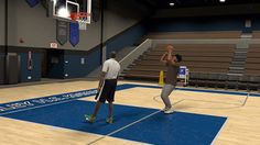 Created player in NBA 2K17 with HS coach.