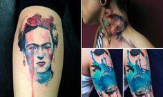 Seleção Hypeness: conheça 25 tatuagens incríveis feitas com a técnica da aquarela