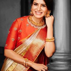 Looking for creative blouse work designs to try with your silk sarees? Here are 16 amazing blouse ideas that can make your silk saree look gorgeous! Saree Blouse Neck Designs, Fancy Blouse Designs, Bridal Blouse Designs, Dress Designs, Blouse Patterns, Sleeve Designs, Saree Jewellery, Stylish Blouse Design, Stylish Sarees