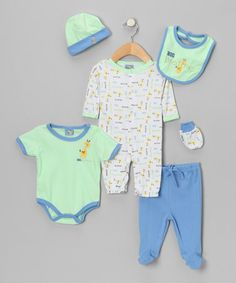 Take a look at this Green 'Big Brother' Six-Piece Layette Set by Sweet & Soft on #zulily today!