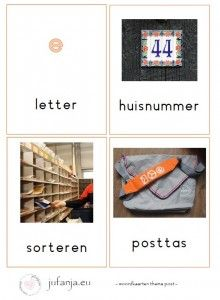 Woordkaarten thema post/ postbode Post Office, Education, Projects, Stage, Paper, Log Projects, Learning, Teaching, Studying