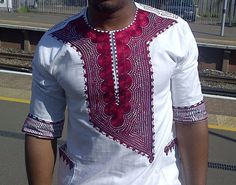 HILTON Male African Kaftan Top by AFRICANISEDSHOP on Etsy