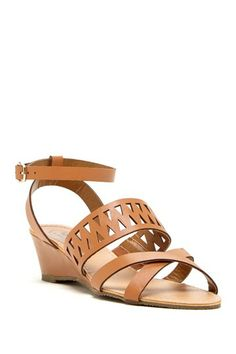 Cutout Vamp Wedge Sandal by Carrini on @HauteLook