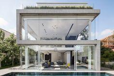 a modern concrete house