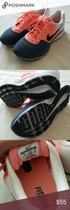 Nike pegasus Worn couple of times and inside only, practically new. Peach and gray color. Nike Shoes Athletic Shoes