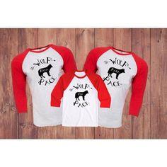 Wolf Pack Raglans for the whole family... #etsy #etsybaby #etsyhunter #etsygifts #etsyfinds #wolfpack
