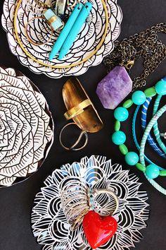 alisa burke: doodled shrink plastic ring bowls