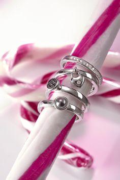 Einzeln oder in #Kombination ein Hingucker: Vier #Silber-Ringe für €49,95 bei #Tchibo