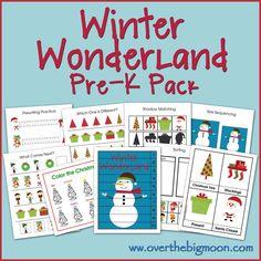 Winter Wonderland Pre-K/Preschool/Tot Pack!  25 pages of fun Winter themed preschool activities!