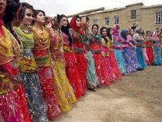 "Kurdish Women in Iran - the Name of this Dance is ""Rainbow Dance""."