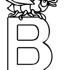 Letter B And Insect Coloring Pages
