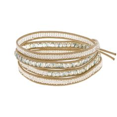 This beautiful wrap bracelet is designed to be adjustable for the perfect fit, regardless of how big or small your wrist is! Simply wrap to desired comfort, and choose the most appropriate loop to secure your tag.