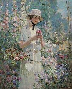 Abbott Fuller Graves - Woman With Flower Basket (1621х1998)    Нажмите для просмотра в полный размер.
