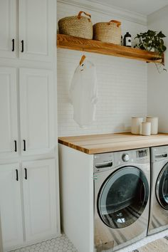 Neutral Laundry Room Remodel - House On Longwood Lane