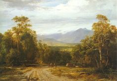 On the Woods Point Road, painting by Louis Buvelot 1872 , Geelong Gallery