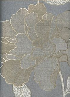 Today's Deals: Save on Wallpaper Metallic Gray Silver and Gold Modern Vinyl Large Textured Floral by The Wallpaper and Border Store. Gold And Silver Wallpaper, Bathroom Wallpaper Metallic, Grey Floral Wallpaper, Wall Wallpaper, Grey And Gold Bedroom, Tapete Gold, Inspirational Wallpapers, Vinyl, Designer Wallpaper