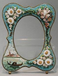 Scenic Venetian 19C Italian Micro Mosaic Frame