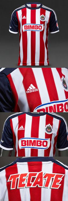 Youth 159099: New Addidas Authentic Chivas De Guadalajara Home Soccer Jersey Youth Size Large BUY IT NOW ONLY: $50.0