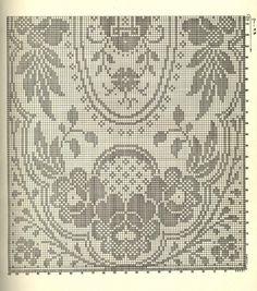 crochet home: Curtains Crochet Edging Patterns, Filet Crochet Charts, Crochet Cross, Crochet Home, Thread Crochet, Irish Crochet, Crochet Designs, Cross Stitch Patterns, Crochet Table Runner