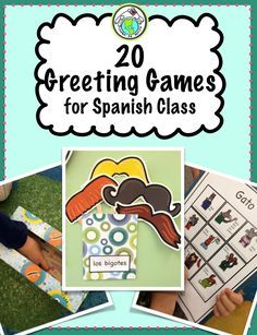 Mundo de Pepita: 3 Greeting Games with a Ball for Elementary Spanish