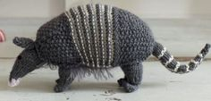 Free knitting pattern for Armadillo and more wild animal knitting patterns