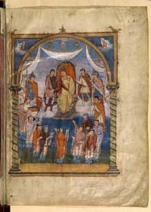 First Bible of Charles the Bald - Wikipedia Medieval Manuscript, Illuminated Manuscript, Ragnar, Charles The Bald, Roi Charles, Kaiser Karl, Carolingian, Holy Roman Empire, Roman Emperor
