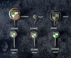 Unbekannt Anstecknadel Puch Emaille