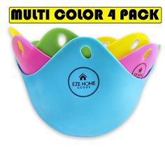 Silicone Egg Poacher - 4 Colorful Egg Cups Cookware - Microwave Egg Cooker No need for Egg Rings or Egg Boiler ** You can get additional details at the image link. (This is an affiliate link and I receive a commission for the sales) Microwave Egg Poacher, Microwave Eggs, Silicone Egg Poacher, Egg Rings, Specialty Cookware, Porous Materials, Kitchen Helper, Baking Cups, Egg Cups