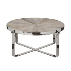 Reclaimed Wood Round Cocktail Table | Scenario Home