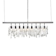 How Cool ~ Linear Strand Crystal Chandelier from Z Gallerie ~ Now I just need a dining room!