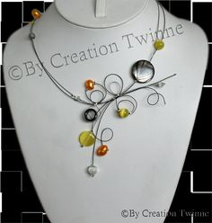 bridesmaids gifts , yellow and orange necklace, wedding jewelry , bridesmaid necklace, delicate necklace , funky jewelry , mother gift on Etsy, $36.50