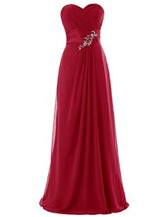 Dresstells Long Chiffon Dress with Beadings Bridesmaid Dresses Wedding Dress Dark Red Size 24W Dresstells http://www.amazon.com/dp/B00M94Z3S4/ref=cm_sw_r_pi_dp_NV.vub17N0B2X