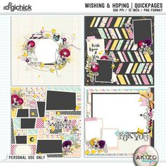 Wishing And Hoping | Quickpages by Akizo Designs (for Digital Scrapbooking page)